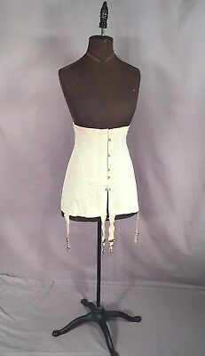 ANTIQUE LONG CORSET c1910 NEVER WORN