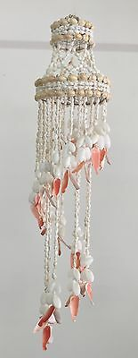 Shell Chandelier Medium RED tip 82cm x 20cm diam