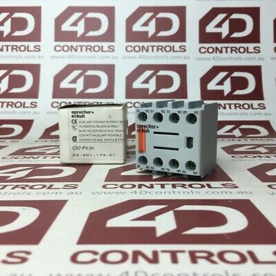Sprecher + Schuh CS7-PV-31 Auxiallary Contactor Front Mounting 690V 10A - New...