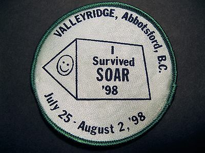 Girl Guides Canada  I Survived Soar '98 Valleyridge Abbotsford Patch 1998