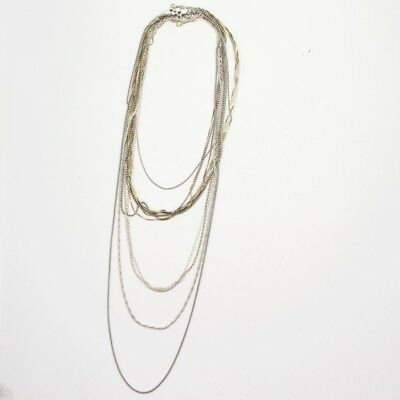 Sterling Silver - Lot of 10 Rope Link Chain Necklaces NOT SCRAP - 40g