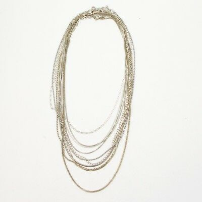 Sterling Silver - Lot of 10 Rope Link Chain Necklaces NOT SCRAP - 33g