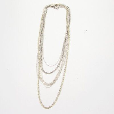 Sterling Silver - Lot of 10 Rope Link Chain Necklaces NOT SCRAP - 43g