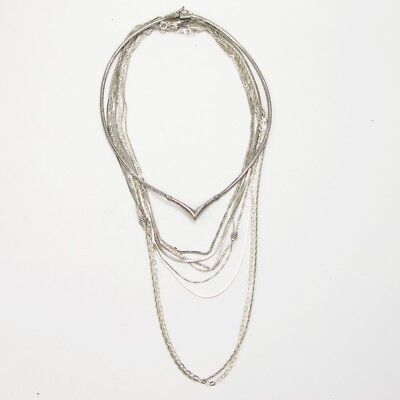Sterling Silver - Lot of 10 Rope Link Chain Necklaces NOT SCRAP - 48g