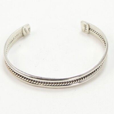 """VTG Sterling Silver - MEXICAN Twisted Wire 7"""" Cuff Bracelet - 22g"""