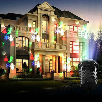 Moving LED Laser Projector Light Landscape Garden Xmas Party Decor Outdoor Lamps