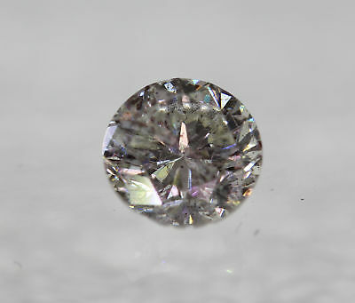 Certified 0.45 Carat I SI2 Round Brilliant Enhanced Natural Loose Diamond 4.73mm