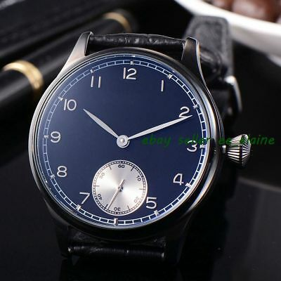 Corgeut 44mm Sterile Black Dial PVD Case Hand Winding Watch WCM2002BPBW02
