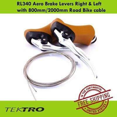 Tektro RL340 Aero Brake SIL Lever / GUM Hoods with 800mm/2000mm Bike cable