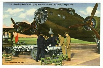 "116-""Loading Bombs on Flying Fortress as Mac Drill Field, Tampa FL..."