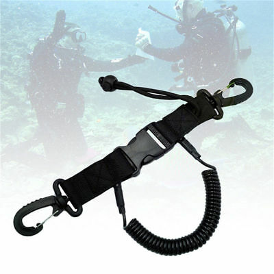 Scuba Diving Clips Dive Snappy Coil Spring Lanyard With Clips Quick Release Rope