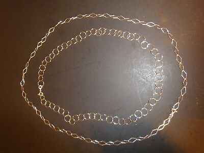 2 CW 925 Sterling Silver Necklaces 11 Grams
