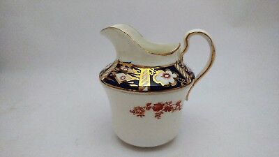 Rare Antique Osborne China Old Imari Style Flow Blue Large Creamer Hand Painted