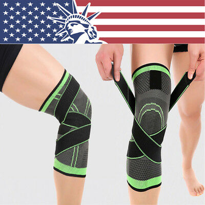 3dff2a414a 3D Weaving Knee Brace Breathable Sleeve Support for Running Jogging Sports  1pcs
