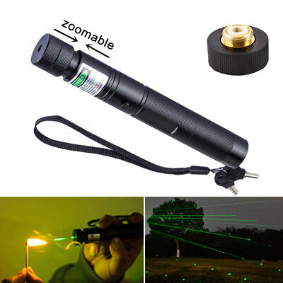 NEW 10Mile 5mw 532nm Powerful Green Laser Pointer Pen Light Visible Beam Burning