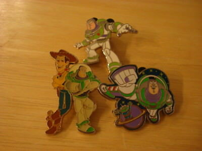 Disney Pixar Woody and Buzz Lightyear pin lot