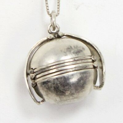 """VTG Sterling Silver - MEXICAN Multi Photo Locket Ball Pendant 28"""" Necklace - 24g"""