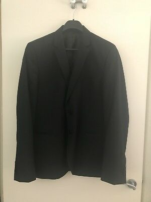 Roger David Black Suit Jacket As New Size 112 Reg, Chest 112cm 70% Wool 30% Poly
