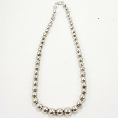 """VTG Sterling Silver - Southwestern Pearls Graduated Beaded 21"""" Necklace - 54g"""