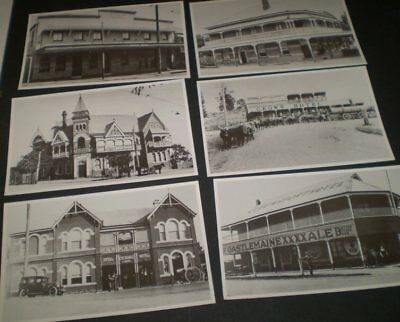 6 Old photo hotel postcards  -  Old Hotels in Qld - unused