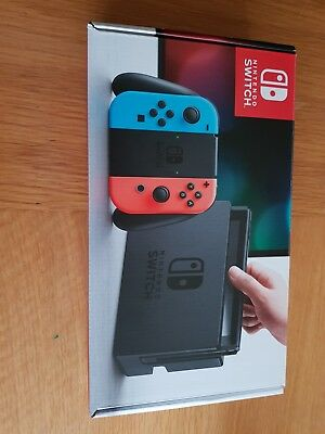 Nintendo Switch 32GB Grey Console with Neon Red Neon Blue #1: Nintendo Switch 32GB Grey Console with Neon Red Neon