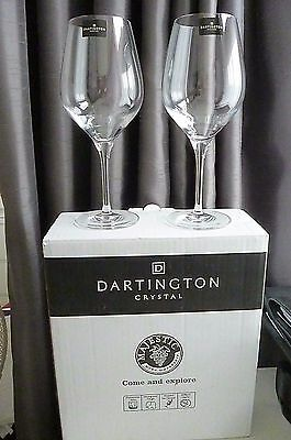 Pair of New Boxed & Signed Dartington Wine Debut Red Glasses(Set of 2) 21cm Tall