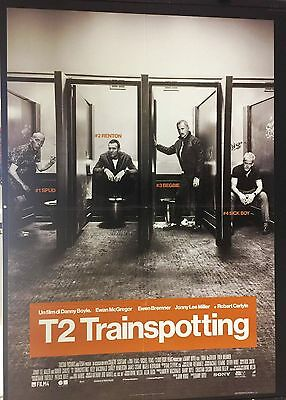 T2 Trainspotting (2017) Poster Manifesto originale ITA CINEMA 100X140cm
