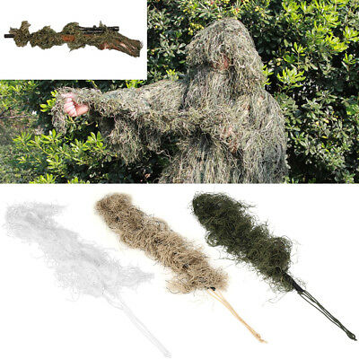 Camouflage Rifle Gun Wrap Cover For Ghillie Suit Sniper Paintball Hunting SA