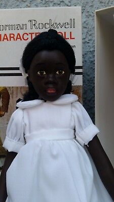 Wilma African American Black Girl Doll Norman Rockwell Mary Moline Germany 1981