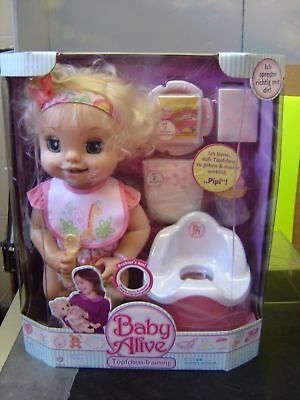 Hasbro Baby Alive Learn To Potty Doll Soft Face 2007 Talks Moves Poops New!