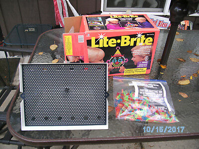 Vintage Milton Bradley Lite Brite Toy with Box Board Pegs Instructions Tested