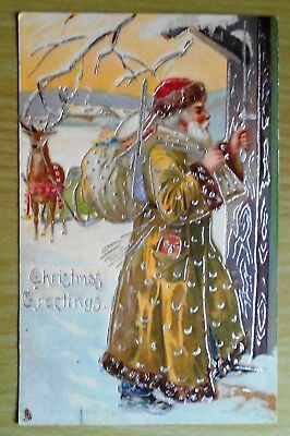 RAPHAEL TUCK POSTCARD 'CHRISTMAS' SERIES NO. 8619 C1906 chromographed in Prussia