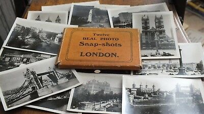 Vintage Box Set Of 12 Real Photo Snap Shots Album London In card box