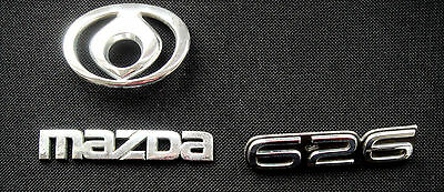 Mazda 626 Logo Badges  Letters Used Stickers Chrome Front Rear Nr 6313