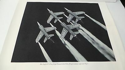 Vintage US Navy Blue Angels Poster Print Black & White  Flying Supersonic Tigers