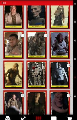 Topps Star Wars Card Trader Red Variant lot of 60 DIGITAL CARDS - Read All