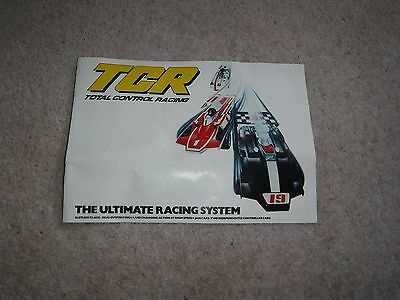 Ideal TCR Car and track etc brochure vgc