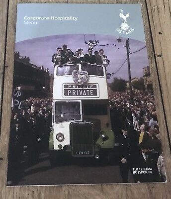 *RARE* Tottenham Spurs Ricky And Ossie Official Hall Of Fame VIP Corporate Menu