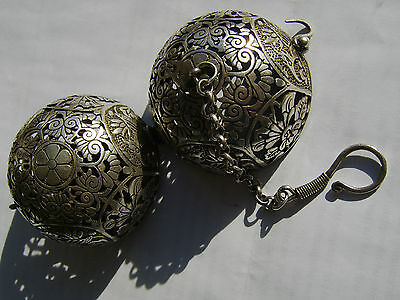 Unusual Old Very Rare Chinese White Metal Travelling Censer - Incense Burner