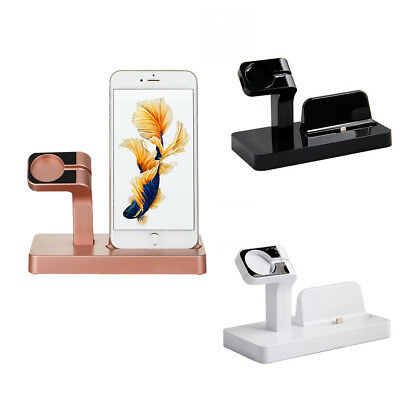 Charging Dock Stand Station Charger Holder For Apple Watch iWatch iPhone 7/6/5/4