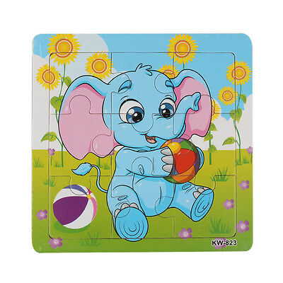 Wooden Elephant Jigsaw Toys For Kids Education And Learning Puzzles Toys Gift OK