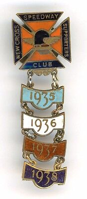Skid Marks..  1930s New Cross Caxton London Unusual Speedway Badge
