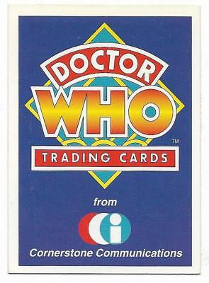 1994 Cornerstone DR WHO Base Card (1) Check List #1