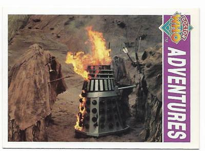 1994 Cornerstone DR WHO Base Card (17) Adventures