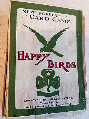 Happy Birds Vintage Girl Guide Card Game