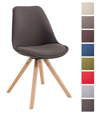 Chaise Salle A Manger TOULOUSE Tissu Design Scandinave Pieds Bois Carre