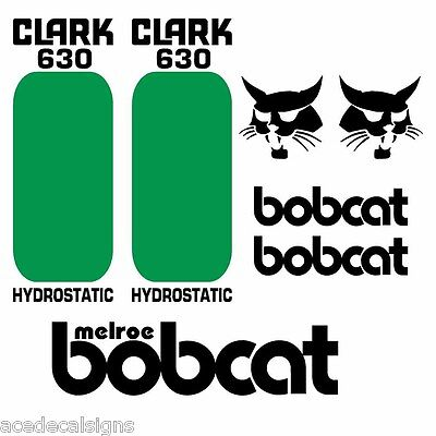 Bobcat 630 631 632 DECALS Stickers Skid Steer loader New Repro decal Kit
