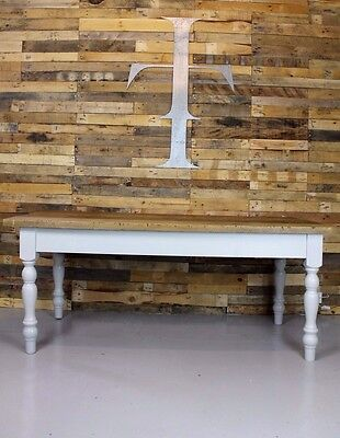 Vintage Antique Style Large 6ft Pine Topped Farmhouse / Refectory Dining Table