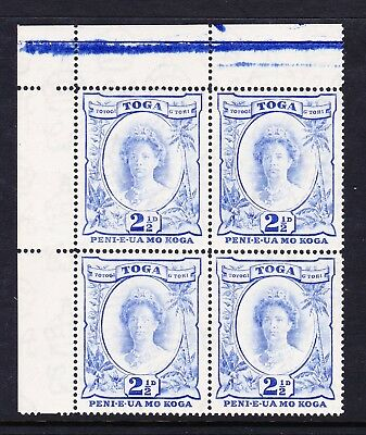 TONGA 1942-49 2½d BRIGHT ULTRAMARNE WITH RECUT '2½d' SG 77a MNH.