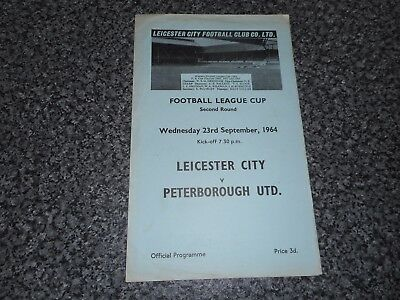 LEICESTER CITY  v  PETERBOROUGH UNITED  1964/5  FOOTBALL LEAGUE CUP 2nd ~ SEPT23